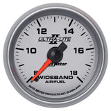"AutoMeter - 2-1/16"" WIDEBAND AIR/FUEL RATIO, ANALOG, 8:1-18:1 AFR, ULTRA-LITE II (4970)"