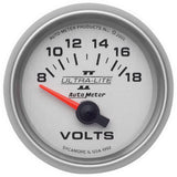 "AutoMeter - 2-1/16"" VOLTMETER, 8-18V, AIR-CORE, ULTRA-LITE II (4992)"