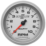"AutoMeter - 3-3/8"" IN-DASH TACHOMETER, 0-10,000 RPM, ULTRA-LITE II (4997)"