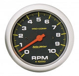 "AutoMeter - 3-3/8"" IN-DASH TACHOMETER, 0-10,000 RPM, PRO-COMP (5161)"
