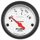 "AutoMeter - 2-1/16"" FUEL LEVEL, 73-10 Ω, AIR-CORE, PHANTOM (5715)"