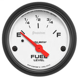 "AutoMeter - 2-1/16"" FUEL LEVEL, 0-30 Ω, AIR-CORE, SSE, PHANTOM (5717)"