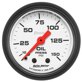 "AutoMeter - 2-1/16"" OIL PRESSURE, 0-150 PSI, MECHANICAL, PHANTOM (5723)"