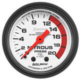 "AutoMeter - 2-1/16"" NITROUS PRESSURE, 0-2000 PSI, MECHANICAL, PHANTOM (5728)"