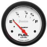 "AutoMeter - 2-5/8"" FUEL LEVEL, 73-10 Ω, AIR-CORE, PHANTOM (5815)"