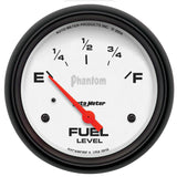 "AutoMeter - 2-5/8"" FUEL LEVEL, 240-33 Ω, AIR-CORE, SSE, PHANTOM (5816)"