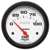"AutoMeter - 2-5/8"" OIL PRESSURE, 0-100 PSI, AIR-CORE, PHANTOM (5827)"