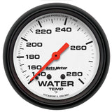 "AutoMeter - 2-5/8"" WATER TEMPERATURE, 140-280 °F, 6 FT., MECHANICAL, PHANTOM (5831)"
