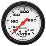 "AutoMeter - 2-5/8"" WATER TEMPERATURE, 120-240 °F, 6 FT., MECHANICAL, PHANTOM (5832)"
