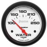 "AutoMeter - 2-5/8"" WATER TEMPERATURE, 100-250 °F, AIR-CORE, PHANTOM (5837)"
