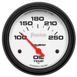 "AutoMeter - 2-5/8"" OIL TEMPERATURE, 100-250 °F, AIR-CORE, PHANTOM (5847)"