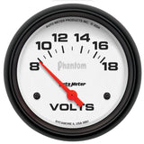 "AutoMeter - 2-5/8"" VOLTMETER, 8-18V, AIR-CORE, PHANTOM (5891)"