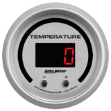 "AutoMeter - 2-1/16"" TWO CHANNEL FLUID TEMPERATURE, SELECTABLE SCALE ºF / ºC, ULTRA-LITE ELITE DIGITAL (6754-UL)"