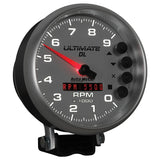 "AutoMeter - 5"" TACHOMETER, 0-9000 RPM, PEDESTAL, ULTIMATE DL PLAYBACK, SILVER (6894)"