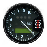 AutoMeter - DISPLAY TACHOMETER, BLACK, 0-10.75K RPM (ST700SR-L)