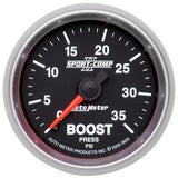 "AutoMeter - 2-1/16"" BOOST, 0-35 PSI, MECHANICAL, SPORT-COMP II (3604)"