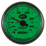 "AutoMeter - 2-1/16"" BOOST/VACUUM, 30 IN HG/45 PSI, MECHANICAL, NV (7308)"