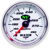 "AutoMeter - 2-1/16"" WATER TEMPERATURE, 140-280 °F, 6 FT., MECHANICAL, NV (7331)"
