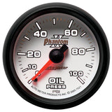"AutoMeter - 2-1/16"" OIL PRESSURE, 0-100 PSI, MECHANICAL, PHANTOM II (7521)"