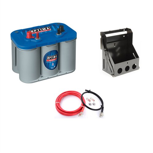 Optima Batteries - Blue Top Marine 12V Battery and Box Kit (753-9016-103K1)