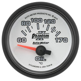 "AutoMeter - 2-1/16"" OIL TEMP, 60-170 C, AIR-CORE, PHANTOM II (7548-M)"