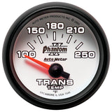 "AutoMeter - 2-1/16"" TRANSMISSION TEMPERATURE, 100-250 °F, AIR-CORE, PHANTOM II (7549)"