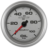 "AutoMeter - 2-5/8"" OIL PRESSURE, 0-100 PSI, MECHANICAL, ULTRA-LITE II (7721)"