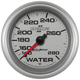 "AutoMeter - 2-5/8"" WATER TEMPERATURE, 140-280 °F, 6 FT., MECHANICAL, ULTRA-LITE II (7731)"