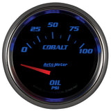 "AutoMeter - 2-5/8"" OIL PRESSURE, 0-100 PSI, AIR-CORE, COBALT (7927)"