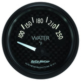 "AutoMeter - 2-1/16"" WATER TEMPERATURE, 100-250 °F, AIR-CORE, GT (8037)"