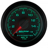 "Auto Meter - 2-1/16"" PYROMETER, 0-1600 °F, STEPPER MOTOR, GEN 3 DODGE FACTORY MATCH (8544)"