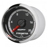 "Auto Meter - 2-1/16"" PYROMETER, 0-2000 °F, STEPPER MOTOR, GEN 4 DODGE FACTORY MATCH (8547)"