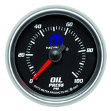 "AutoMeter - 2-1/16"" OIL PRESSURE, 0-100 PSI, MECHANICAL, BLACK, MOPAR (880014)"