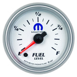 "AutoMeter - 2-1/16"" FUEL LEVEL, PROGRAMMABLE 0-280 Ω, STEPPER MOTOR, WHITE, MOPAR #77060042 (880027)"