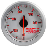 "AutoMeter - 2-1/16"" WIDEBAND A/F, AIR-CORE, AIRDRIVE, SILVER (9178-UL)"