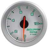 "AutoMeter - 2-1/16"" TACH, 0-10,000 RPM, AIR-CORE, AIRDRIVE, SILVER (9197-UL)"