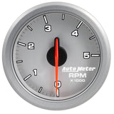 "AutoMeter - 2-1/16"" TACH, 0-5,000 RPM, AIR-CORE, AIRDRIVE, SILVER (9198-UL)"