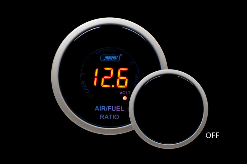Pro Sport Gauges - Pro Sport Gauges - Digital Air Fuel Ratio & Volt Gauge-AMBER Display