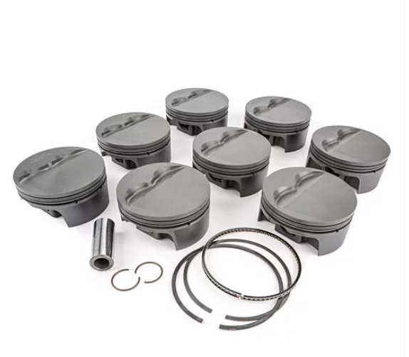 MAHLE PISTONS - Motorsports Pistons Big Block Mopar PowerPak Piston & Ring Kit Forged 4032 High Silicon Low Expansion Aluminum Alloy,Bore: 4.375