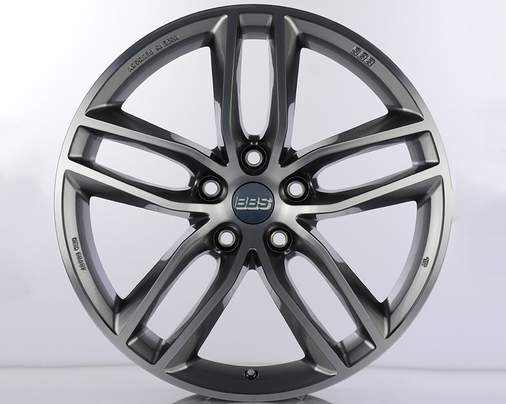BBS - SX 19x8.5 5x112 46mm Platinum w/Machined Face (SX0502PPK)