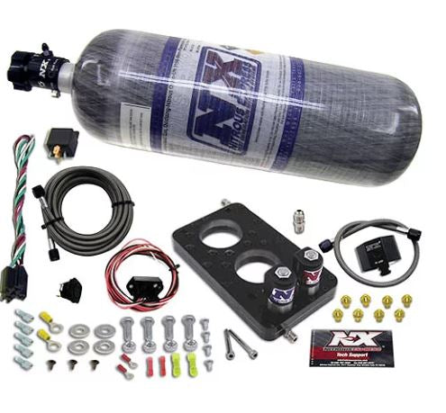 Nitrous Express - Ford 4.6L 3-Valve Nitrous Plate System 2005-2010 Mustang GT & Fords w/4.6L 3V (20947-12)