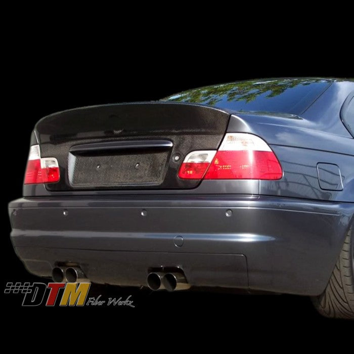 DTM Fiberwerkz - BMW E46 M3 CSL Style Conversion Rear Bumper With Diffuser
