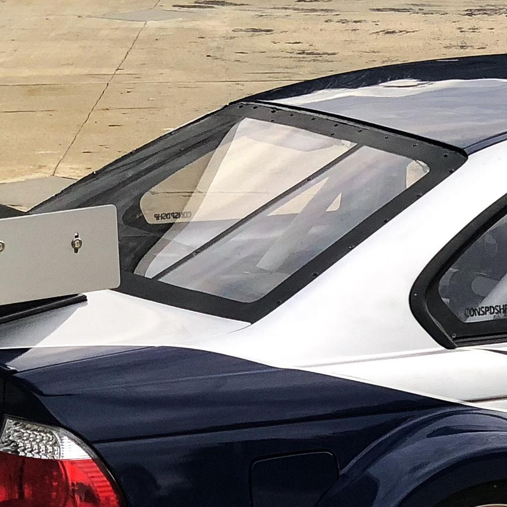 Condor Speed Shop - Polycarbonate Rear Windshield - E46