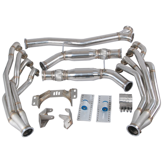 CXRacing - Version2 LS1 Engine T56 Trans Mounts Headers Y Exhaust For 240SX S13/S14 LS ( ESK-HD-LS1-MID-Y-S13-NEW)