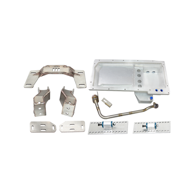 CXRacing - LS1 Engine T56 Transmission Mount Kit Oil Pan for 04-13 BMW E90/E92 LS Swap (ESK-TM-OP-LS-E92-KIT)