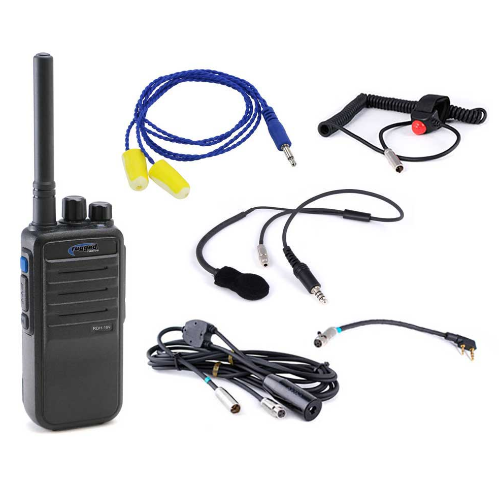 Rugged Radios - IMSA Single Seat Kit with Digital 16-Channel Handheld Radio (IMSA-SS-RDH)