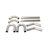 "CXRacing - UNIVERSAL STAINLESS PIPING KIT 2.5"" 8 PCS EXHAUST STRAIGHT 45 90 U PIPE (KIT-SSPIP-250)"