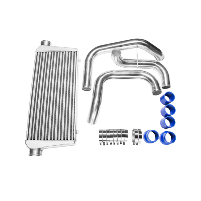 CXRacing - Tube & Fin Front Mount Intercooler Piping Kit For Nissan S13 S14  S15 240SX Skyline R33 R34 GTR GTS With RB20DET RB25DET Engine