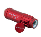 "NRG - 700 SERIES ""STEEL"" LUG NUTS W/ DUST CAP COVER 5 LUG SETS (21 PIECES) INCL LOCK & LOCK SOCKET"