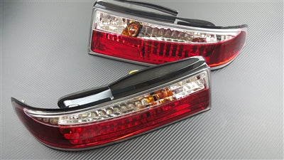 P2M - NISSAN S14 ZENKI 3PCS CRYSTAL REAR TAIL LIGHT KIT [LED VERSION]  (P2-NS14RTL02C-JY)